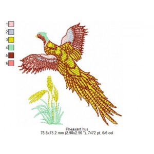 Embroidery file 024__Vari1-Pheasant