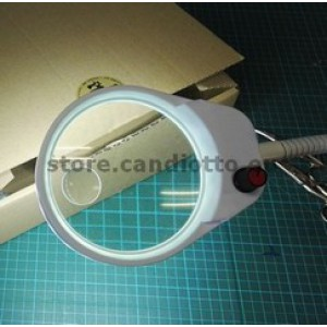 Magnifier LED lamp with clamp x3