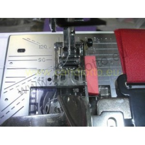 Double fold Binder entry 3,2 cm finished edge 8 mm