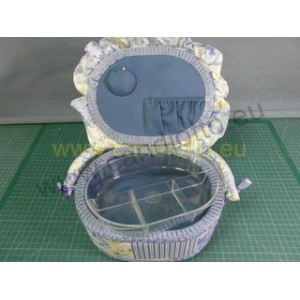 basket Oval portalavoro with purple ruffles